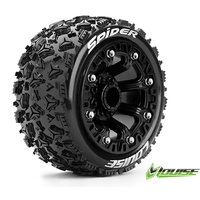 ST-Spider 1/10-1/16th BLK Rim w/tyre