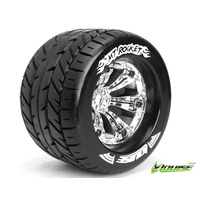 MT-Rocket 1/8 Monster Truck Tyres Chrome