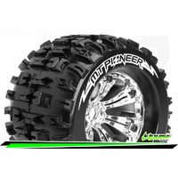 MT-Pioneer 1/8 Monster Truck Tyres Chrom