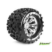 MT-Uphill 1/8 Monster Truck Tyres Chrome