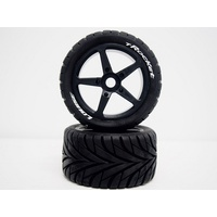 T-Rocket 1/8th Truggy Tyre BLK/spoke