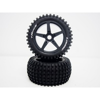 T-Rock 1/8th Truggy Tyre BLK/spoke