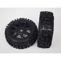 B-Ulldoze Black Spoke 1/8 Tyre & rim