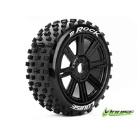 B-Rock 1/8th Buggy Tyre BLK/spoke
