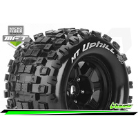 MFT 1/8 MT-UPHILL MONSTER TRUCK TIRE SPORT / 0 OFFSET BLACK RIM HEX 17mm / MOUNTED