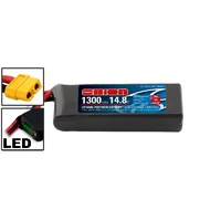 LiPo 1300mAh 4S 14.8V 75C (XT60) - Racing Drone Battery