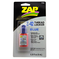 ZAP PT-42 0.20 OZ. Z-42 THREAD LOCKER (BLUE) (CARDED)