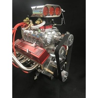 1/4 Scale V8 Nitro Powered Supercharged Working Engine