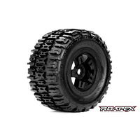 RENEGADE 1/8 MONSTER TRUCK TIRE BLACK WHEEL WITH 17MM HEX MOUNTED
