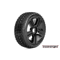 ROLLER 1/8 BUGGY TIRE BLACK WHEEL WITH 17MM HEX MOUNTED