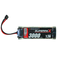 RADIENT SUPERPAX NIMH BATTERY SC 7.2V 6-CELL 3000MAH STICK PACK: DEANS