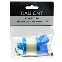 RADIENT AIR FILTER KIT UNIVERSAL 1/8
