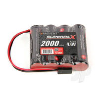 RADIENT SUPERPAX NIMH BATTERY AA 4.8V 4-CELL 2000mA SBS-FLAT RECEIVER PACK