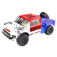 Octane Blast 2.0 Brushless RTR w/ESC, 3650 motor, 7.4V 3250mAH , 2.4G radio, alum shocks, rollcage with drivers, spare wheel, balance Charger,R