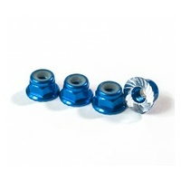M4 Serrated Wheel Nuts blue