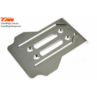 E6 CNC stainless chassis rear guard