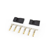 JR connector Male Gold plated terminals 2sets/bag