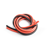 Silicone wire 10AWG 0.06 with 1m red and 1m black