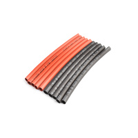 4mm PE heat shrink red & black-10cm long, 5sets/bag
