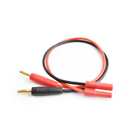 4.0mm(W/housing) to 4.0mm connector charging cable14AWG 30cm silicone wire