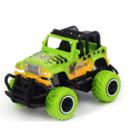 1:43 Scale mini off-road graffito jeep  Green RTR car  Body, (Requires AA Batteries)