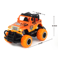 1:43 Scale mini off-road graffito jeep  Orange RTR car  Body, (Requires AA Batteries)