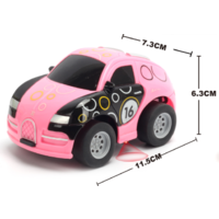 1:43 Q version Bugatti graffito car Pink  Body, (Requires AA Batteries)