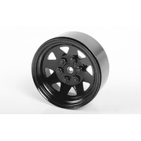"6 Lug Wagon 1.9"" Steel Stamped Beadlock Wheels (Black)"