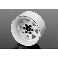 "RC4WD 6 Lug Wagon 2.2"" Steel Stamped Beadlock Wheels (White)"