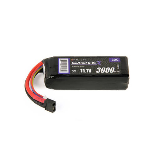 RADIENT RDNB30003S 3000MA 3-CELL/3S 11.1V 30C LIPO BATTERY: DEANS CONNECTOR