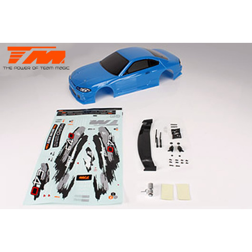 Body - 1/10 Touring / Drift - 190mm - Painted - no holes - S15 Blue