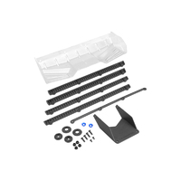 Hybrid - pre-trimmed polycarbonate 1/8th buggy | truck wing, w/gurney options (black)