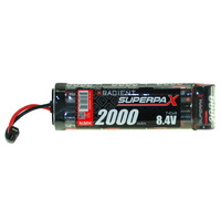 RADIENT SUPERPAX NIMH BATTERY SC 8.4V 7-CELL 2000MAH 6-1 STICK PACK: DEANS